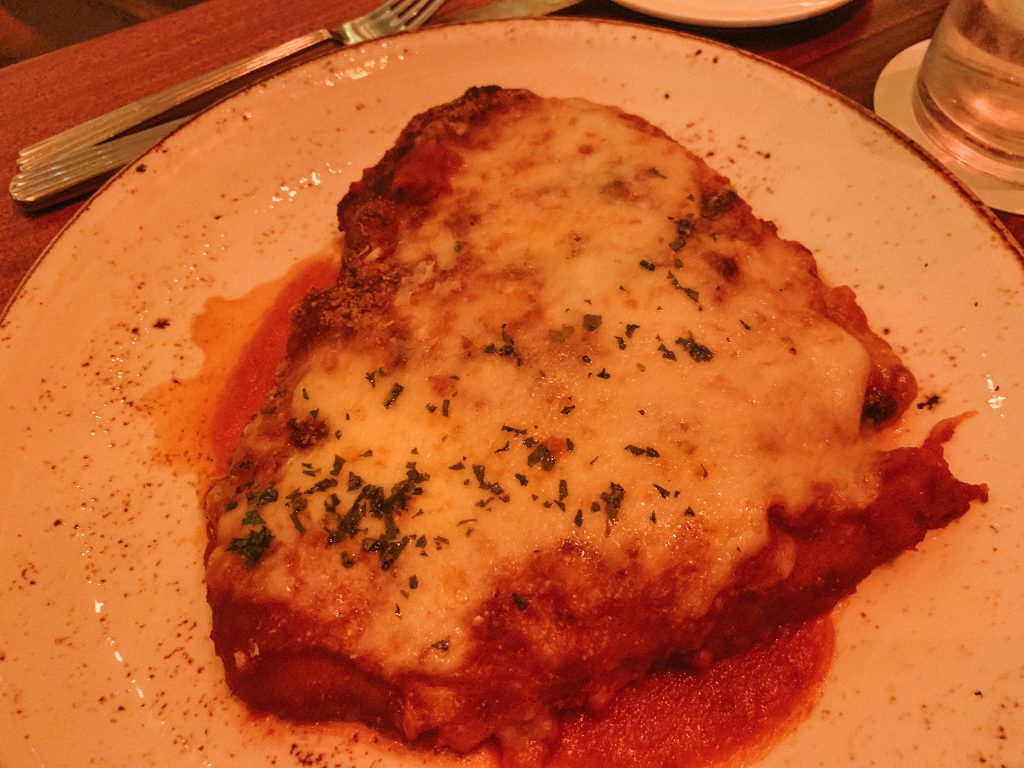 Chicken Parmaigiana at Maria & Enzo's Disney Springs