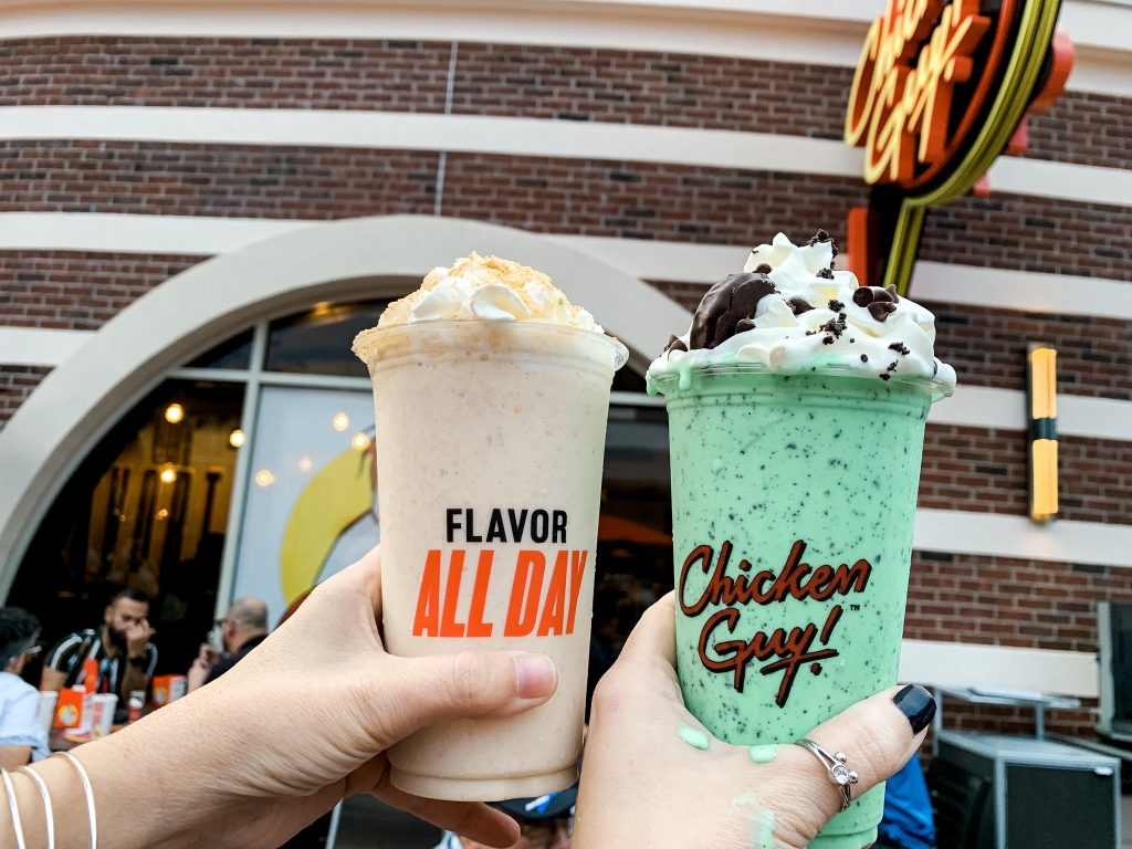 Milkshakes at Guy Chicken Disney Springs