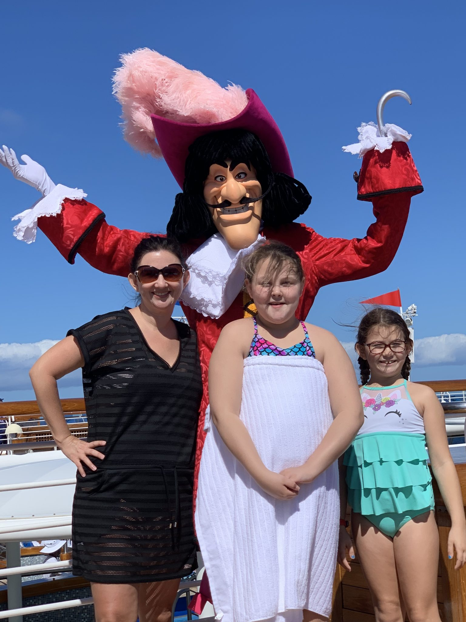 Meeting Captain Hook on the Disney Cruise