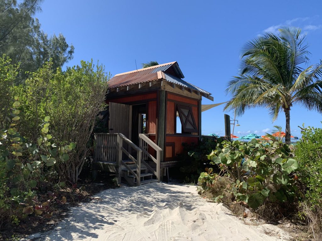 View of Cabana on Disneys private island Castaway Cay