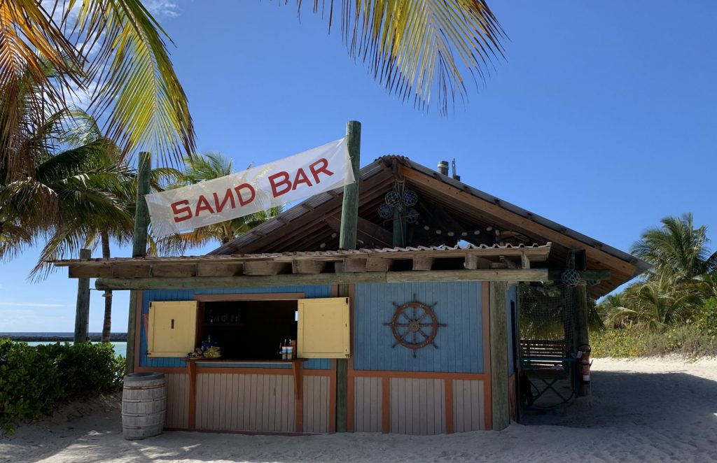 Sand Bar on Castway Cay Family Beach