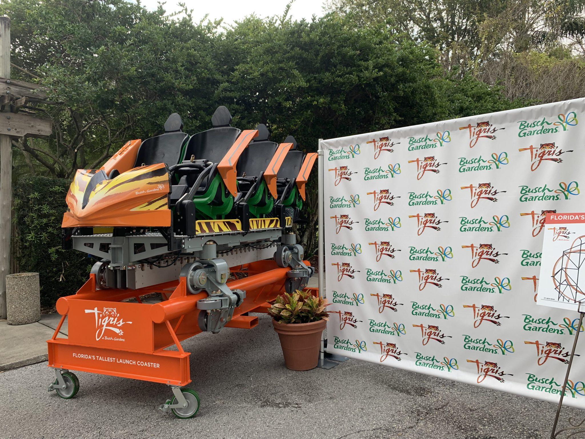 Ride car for Tigris at Busch Gardens Tampa Bay