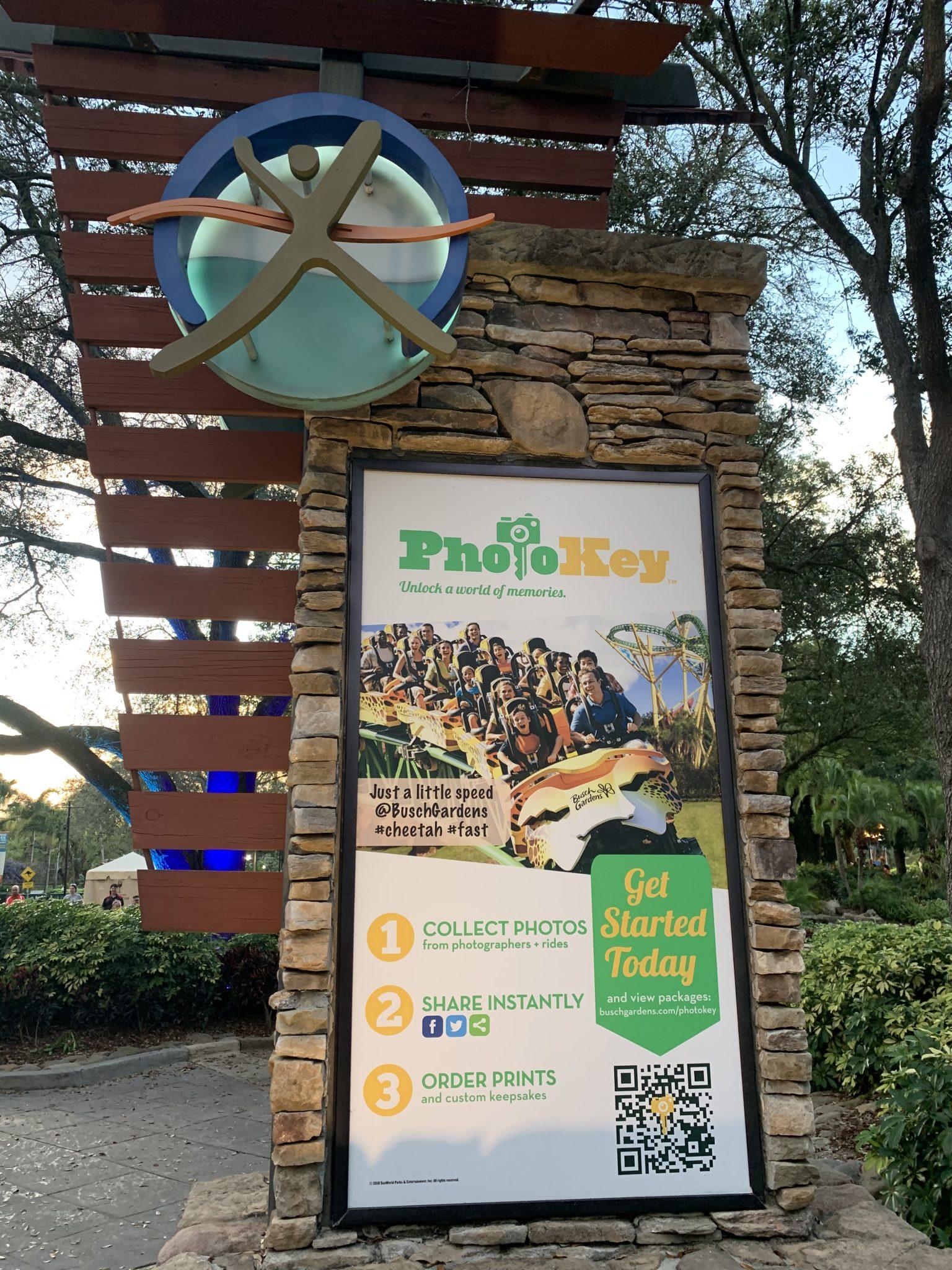 Busch Gardens Tampa Bay photo key photo download service