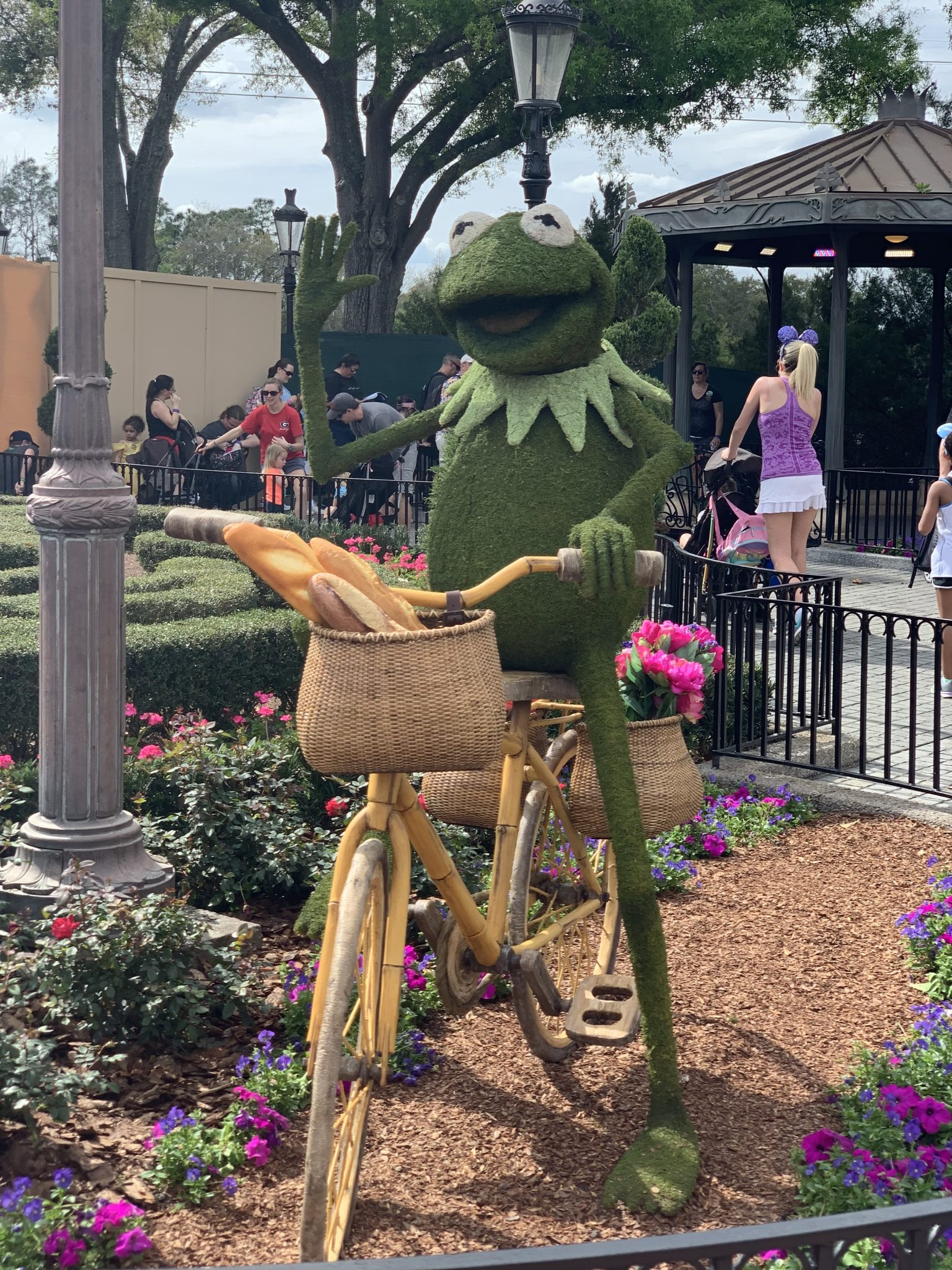 Kermit the Frog in France at Epcot Flower and Garden Festival