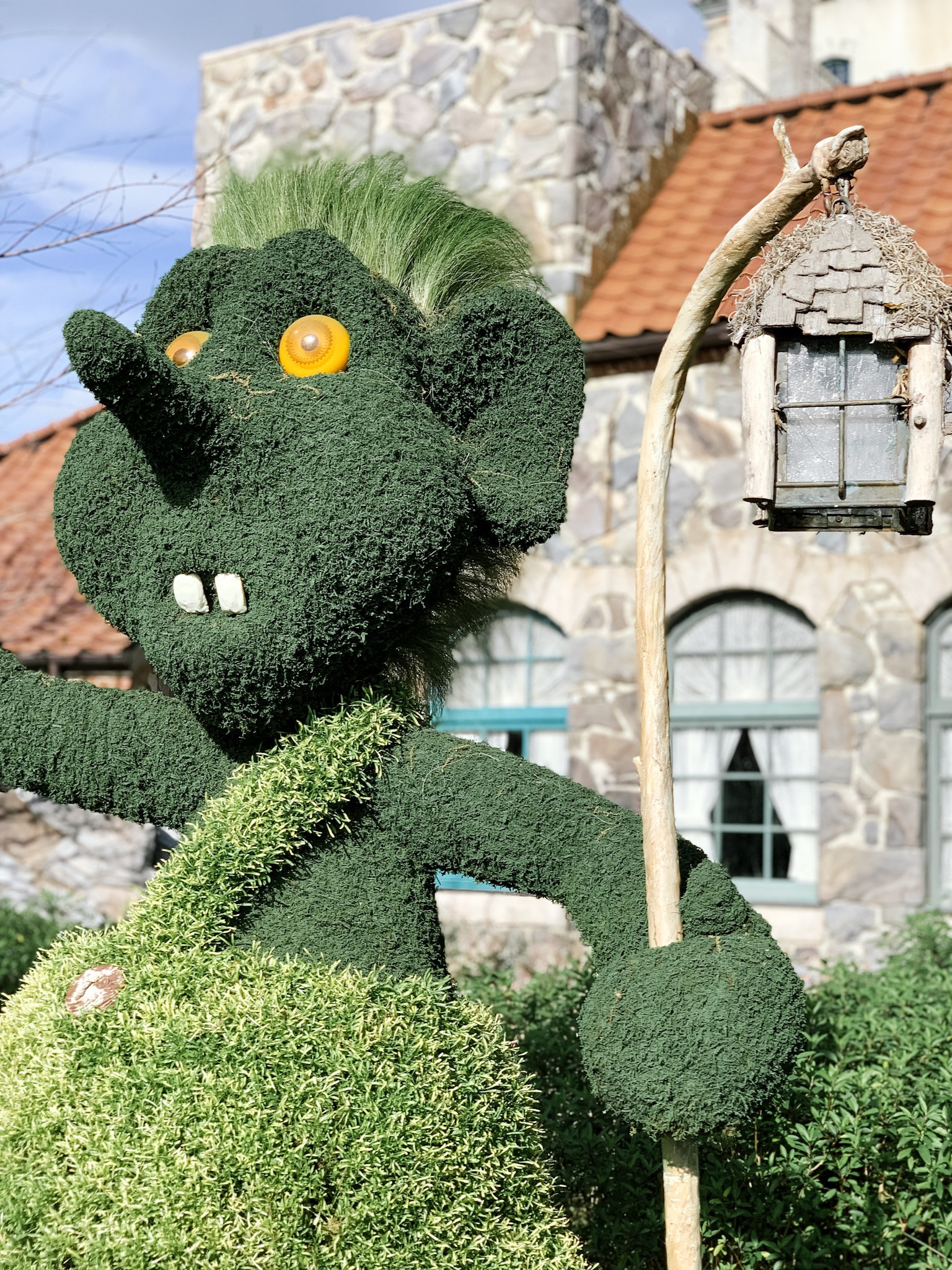Troll topiary at Epcot Flower and Garden Festival