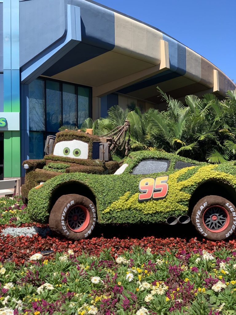 Tow Mater and Lightning McQueen from the 2019 Flower and Garden Festival