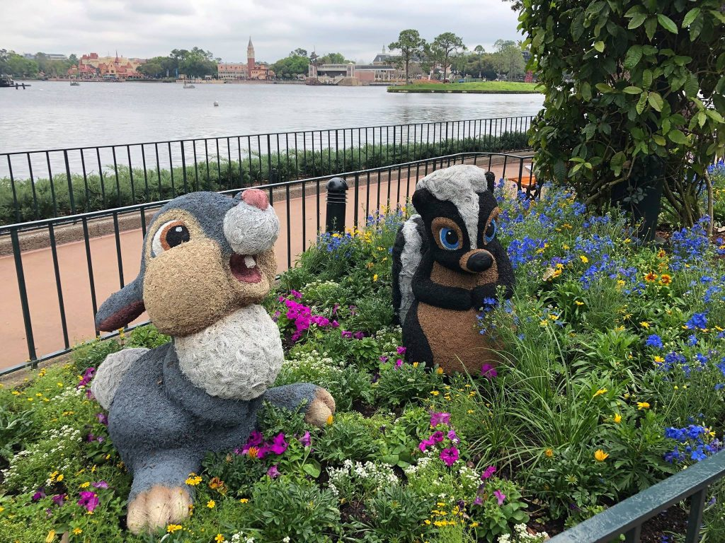 Flower and Thumper at the 2019 Epcot Flower and Garden Festival