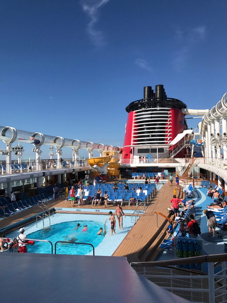 DIsney Cruise pool deck
