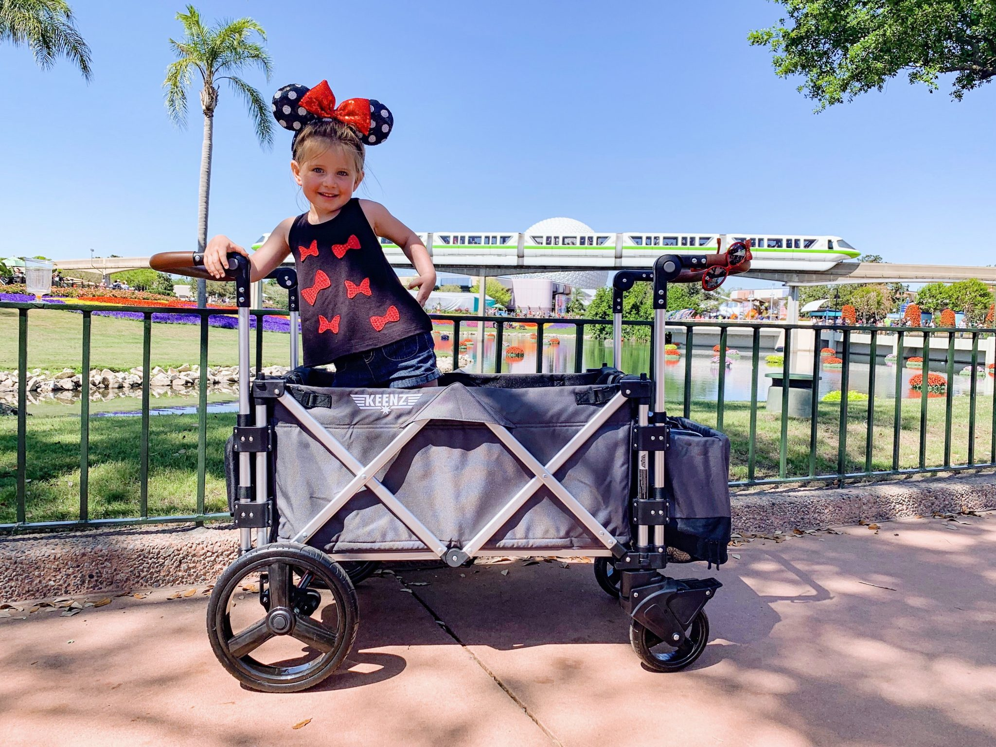 Mom Genius Keenz Stroller Wagon at Disney World