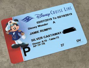 Key to the World Disney Cruise Line room key