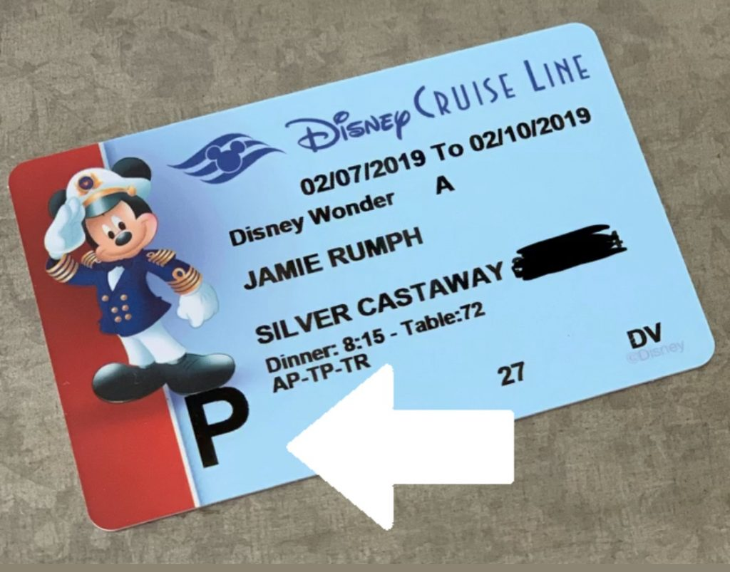Muster station on Disney Cruise Line Key to the World Key card
