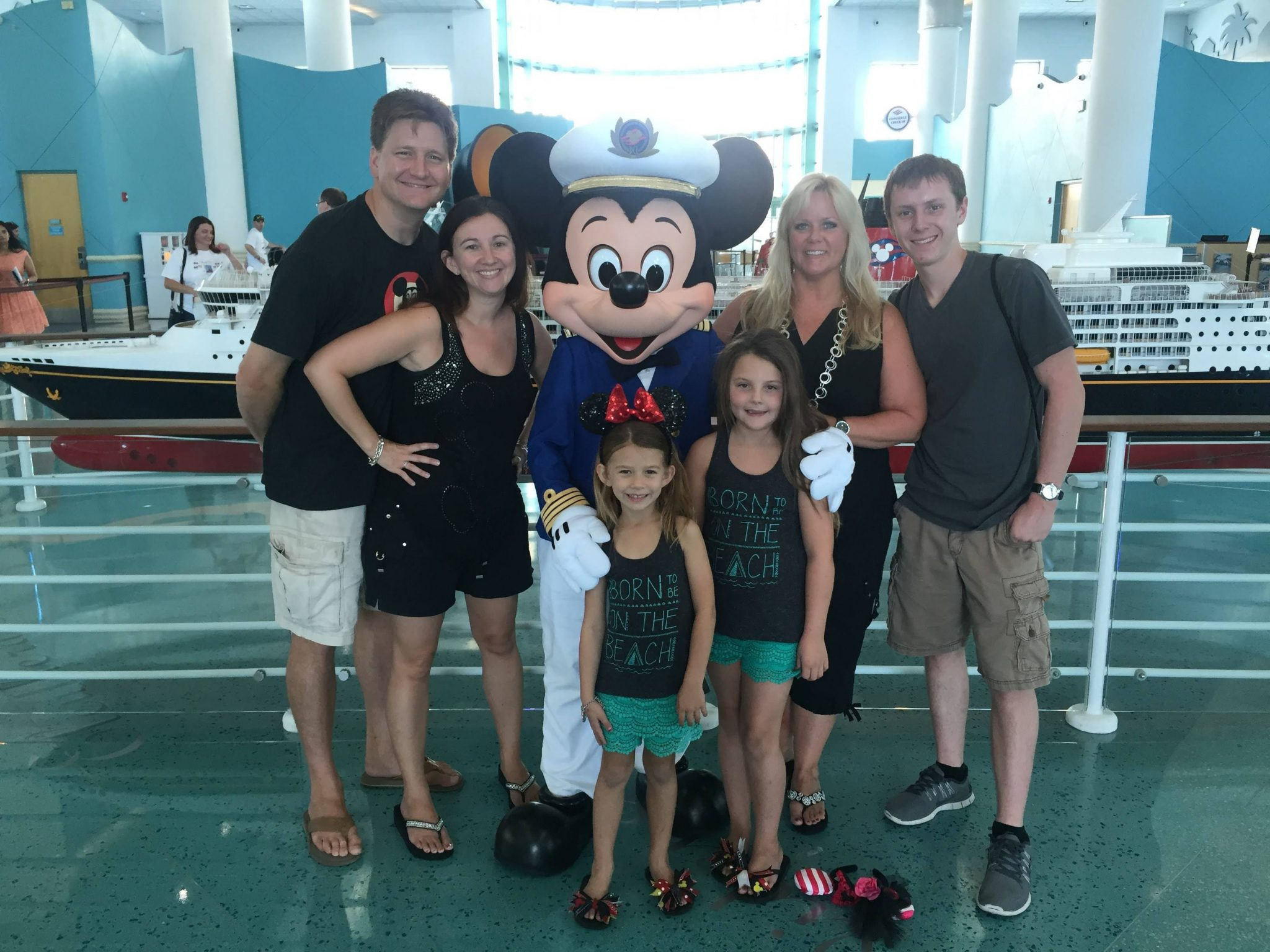 Mickey Mouse at Disney Cruise Port Checkin
