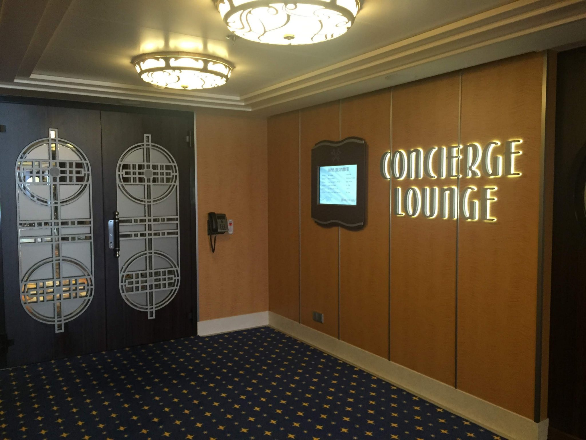 DIsney Cruise Concierge Lounge