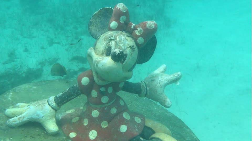 Snorkel Lagoon Minnie Mouse on Castaway Cay Disney Cruise LIne private island