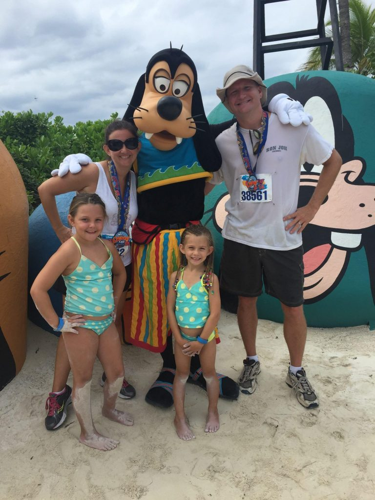 Meeting characters on Disney's Private Island