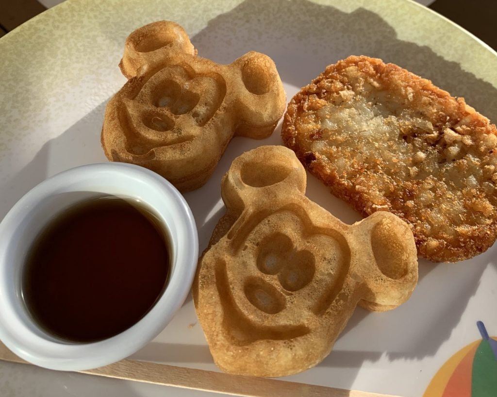 Mickey Waffles on Disney Cruise Line