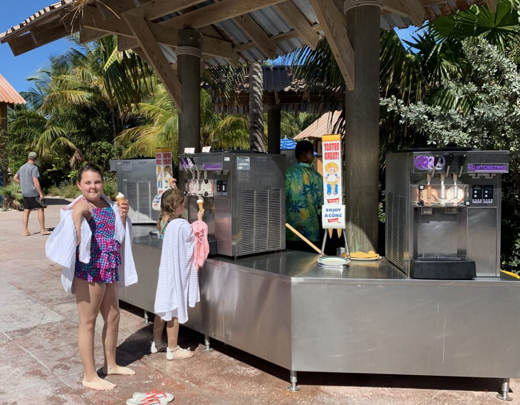 soft serve ice cream on Castaway Cay