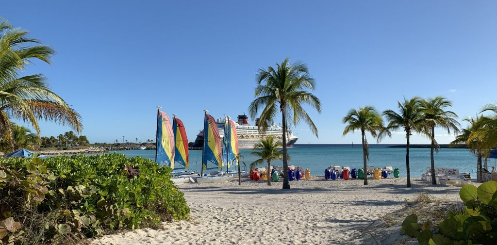 Boat Beach on Castaway Cay Disney Cruise Lines private island