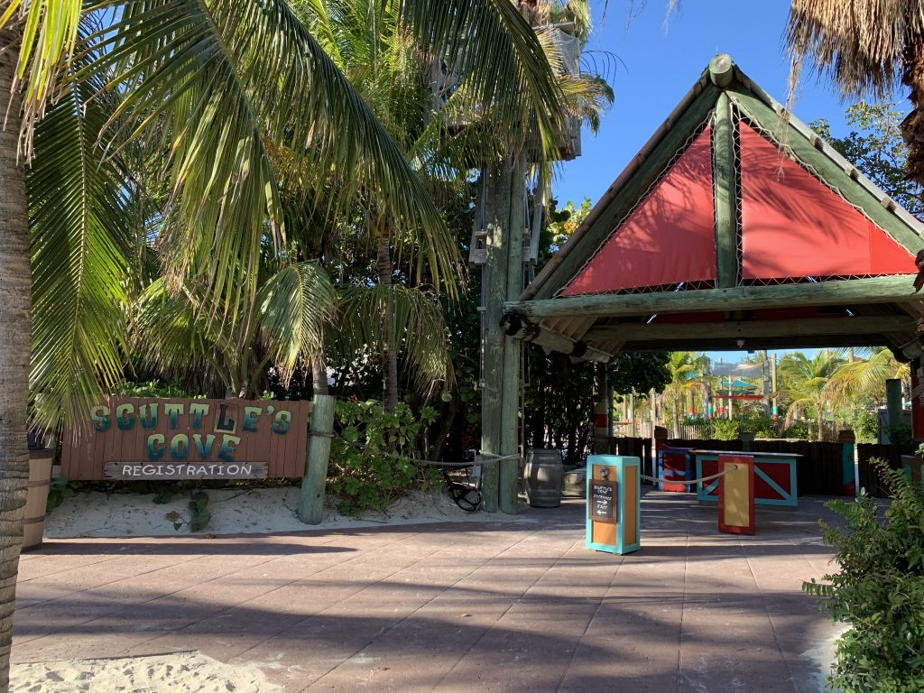 Scuttles Cove kids club on Disney's private island Castaway Cay