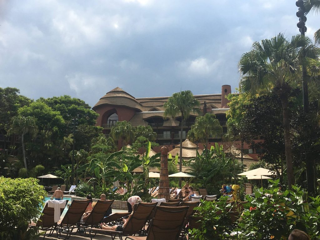 pool view at Animal Kingdom Lodge