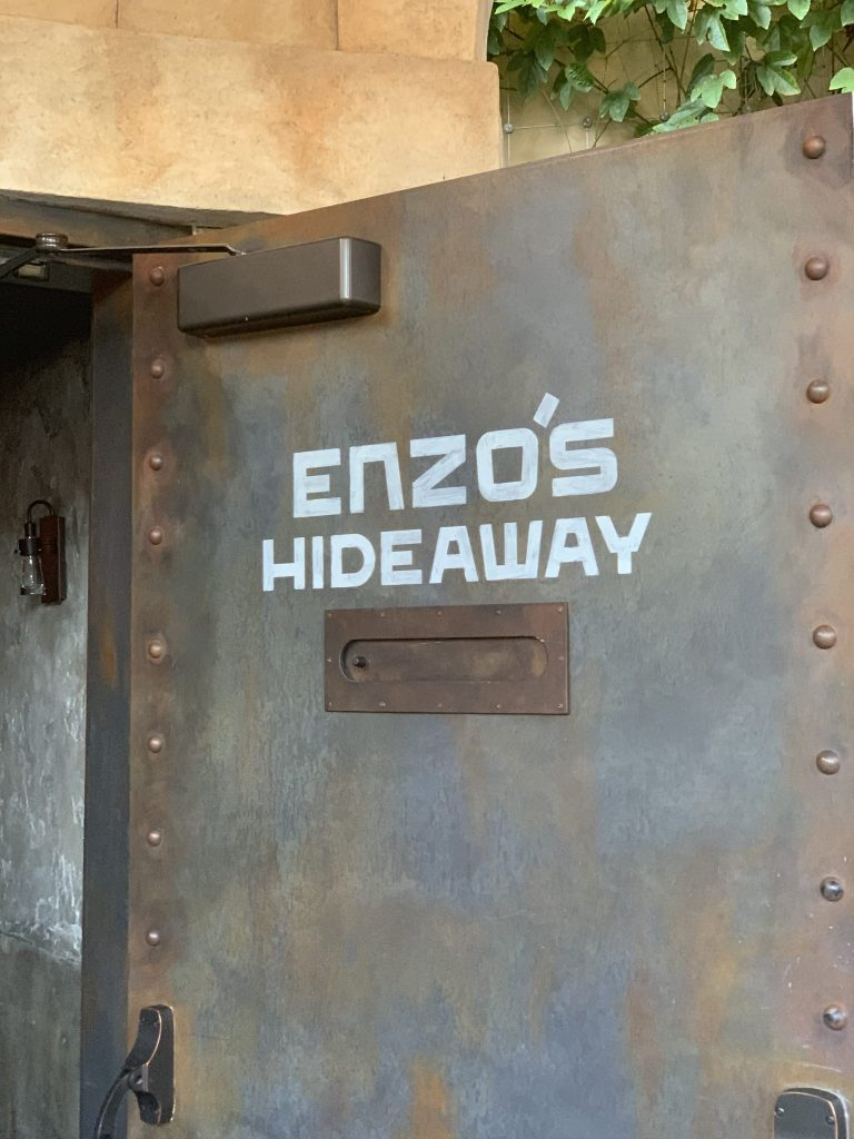 Enzo's Hideaway door Disney Springs