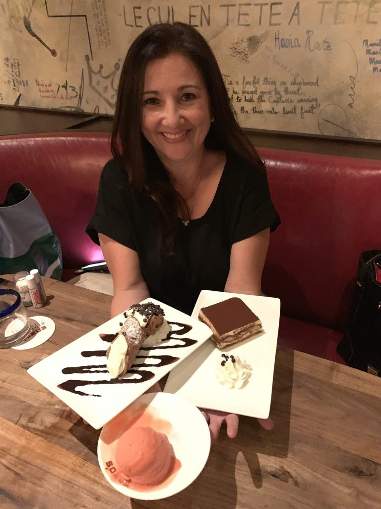 Desserts at Enzo's Hideaway Disney Springs