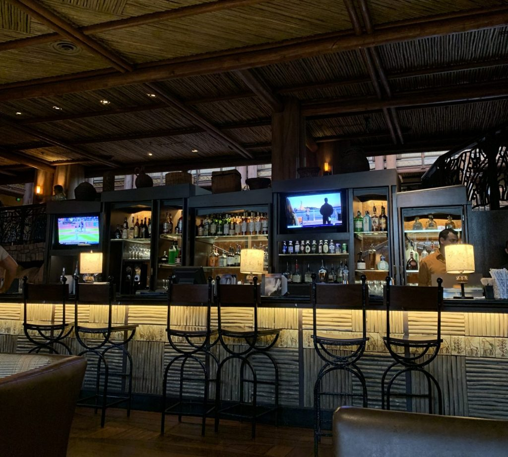Victoria Falls bar and lounge at Animal Kingdom Lodge