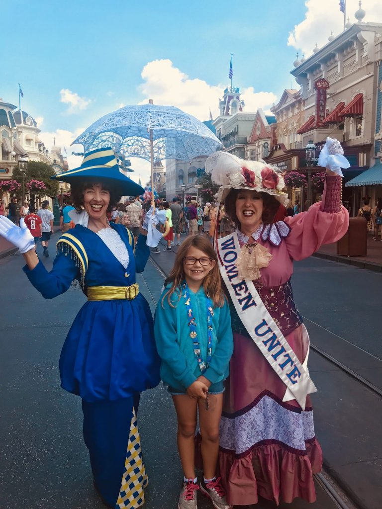 Main Street characters at Magic Kingdom
