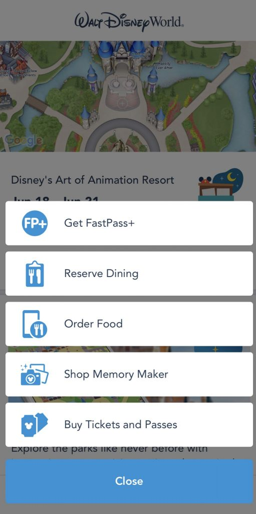 My Disney Experience Fast Pass Magic Kingdom Touring Plan