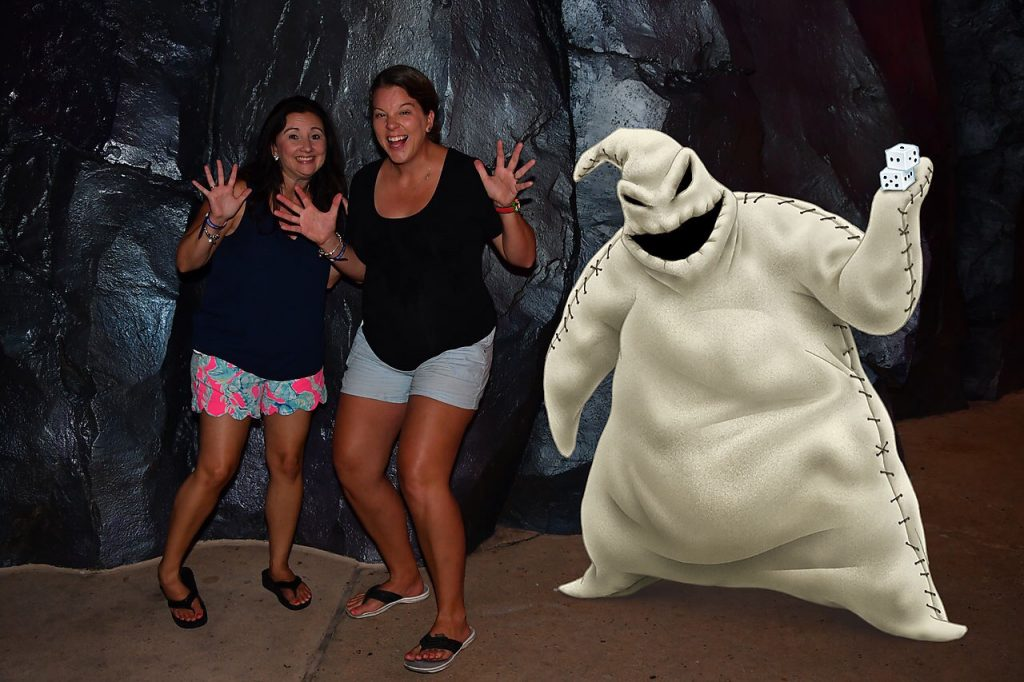 Ogie Boogie magic shot at Disney's Villains After Hours event