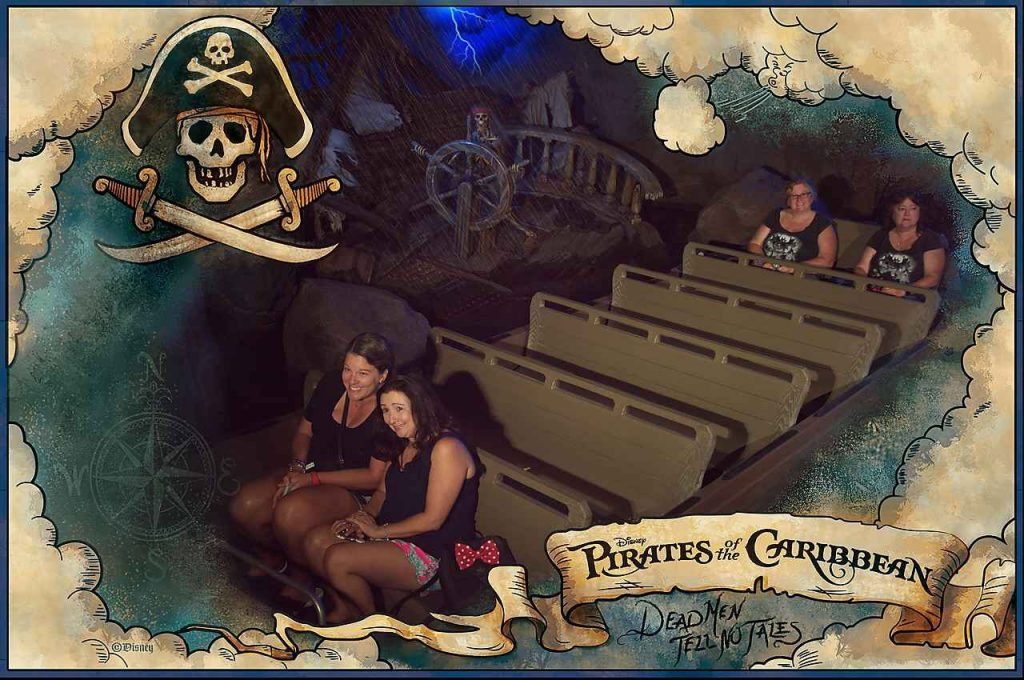 Pirates of the Caribbean photo pass ride photo at Disney's Villains After Hours