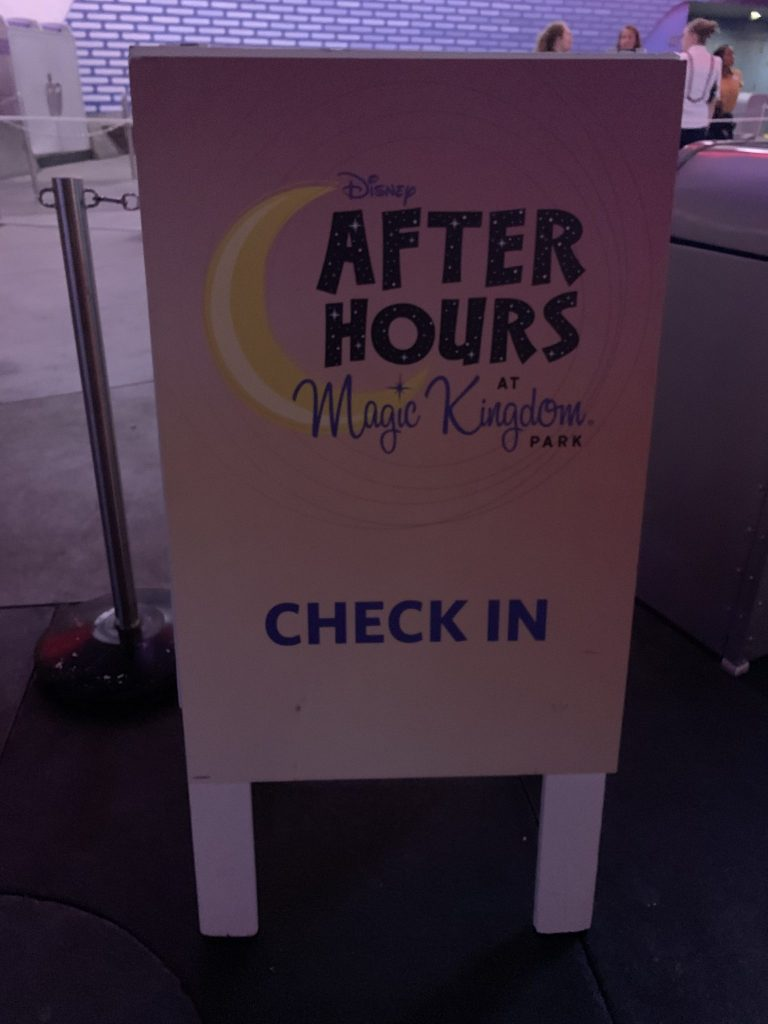 Disney's Villains After Hours at Magic Kingdom event sign in