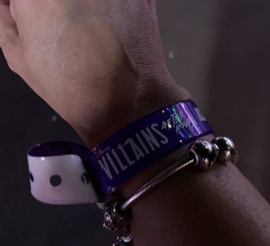 Disney's Villains After Hours at Magic Kingdom wrist band