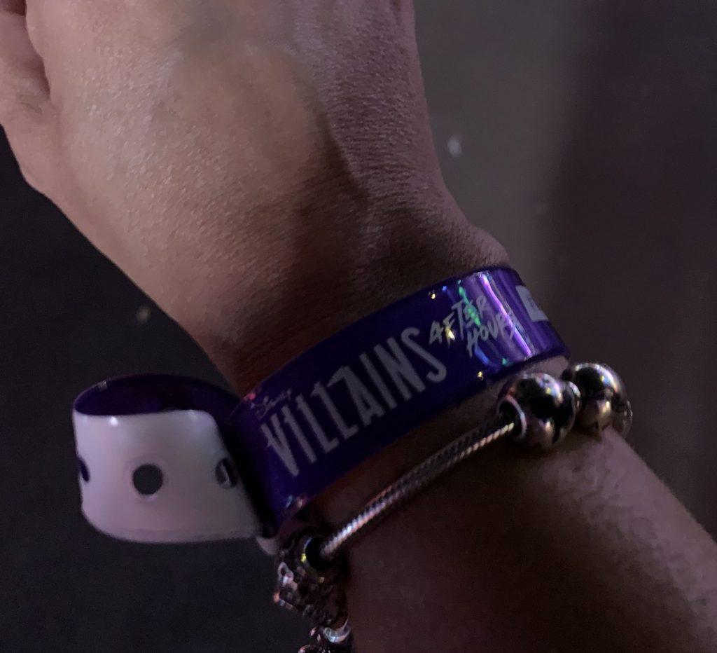 Disney's Villains After Hours at Magic Kingdom wrist band