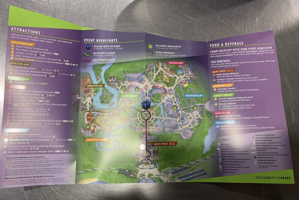 Disney's Villains After Hours complete map