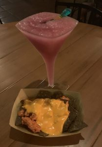 Hades Nachos and Hades Temptation Mocktail at Disney's Villains After Hours