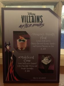 Dragons Breath Float and Maleficent Cone at Disney's Villains After Hours