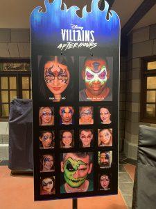 Disney's Villains After Hours event facepainting