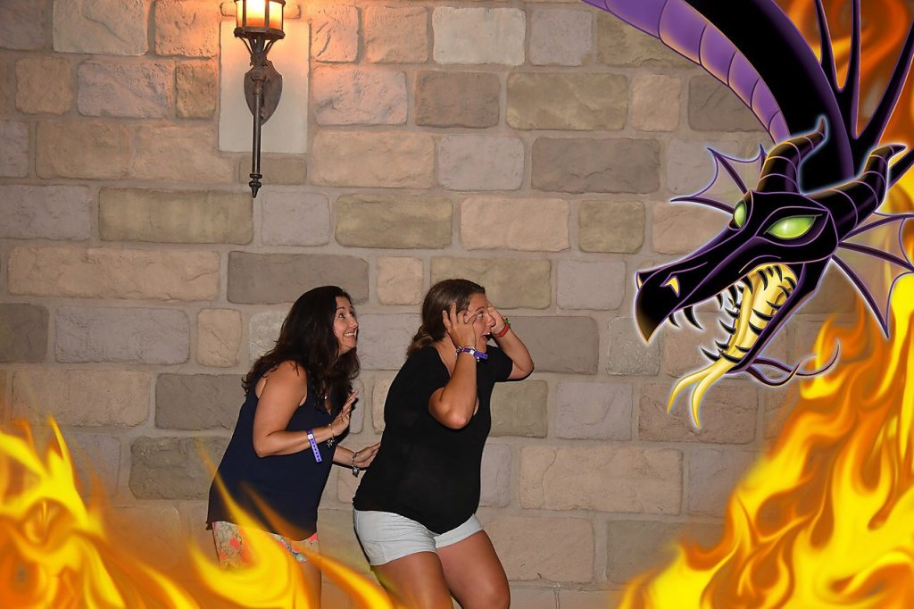 Maleficent Magic Shot at Disney's Villains After Hours