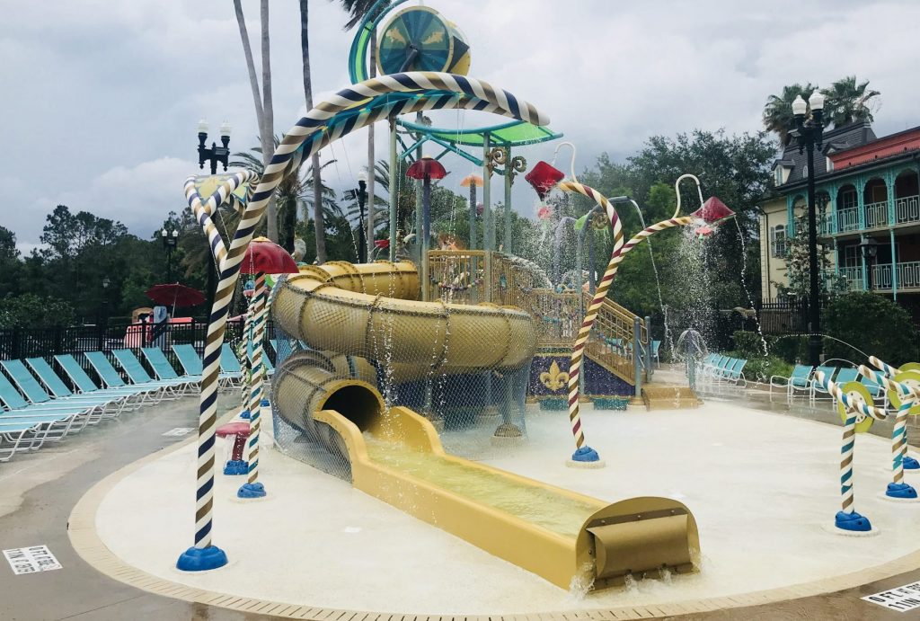 Disneys Port Orleans French Quarter splash pad and pool