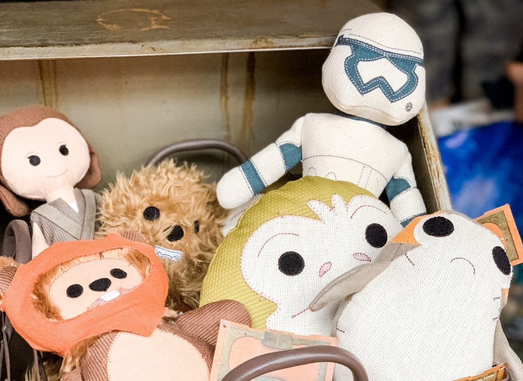 Toys at the Toydarian Toy Maker stall in Star Wars Galaxys Edge