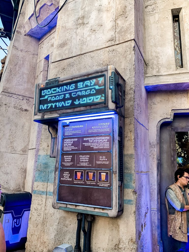 Docking Bay 7 quick service restaurant at Star Wars Galayx's Edge
