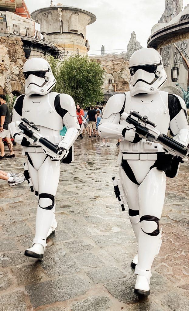 Storm Troopers roaming Star Wars Land
