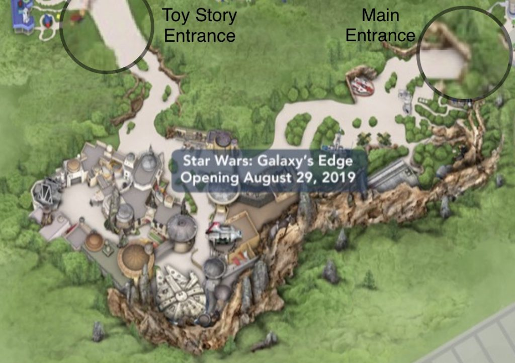 Star Wars Land Galaxys Edge map