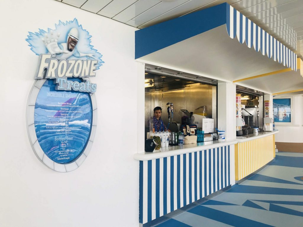 what to eat at Frozone Treats on Disney Cruise Line