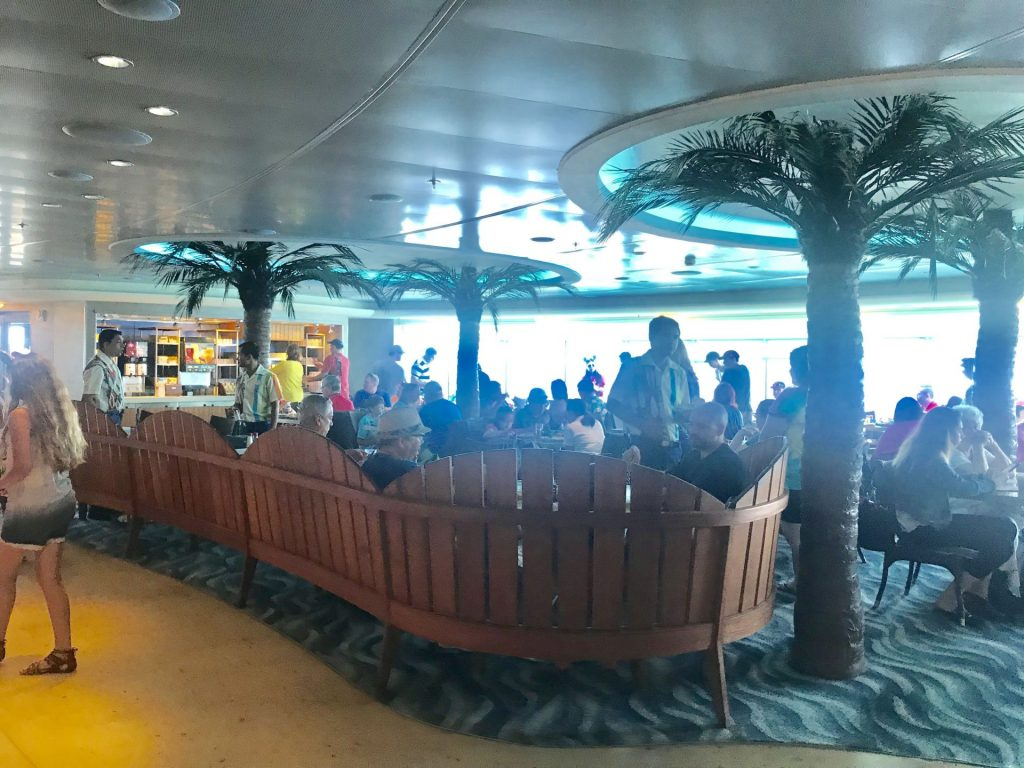 dining area at Cabanas on Disney Cruise Line