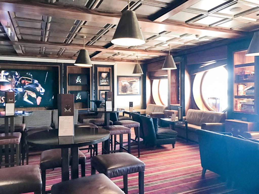 Pub 687 seating area on Disney Cruise Line