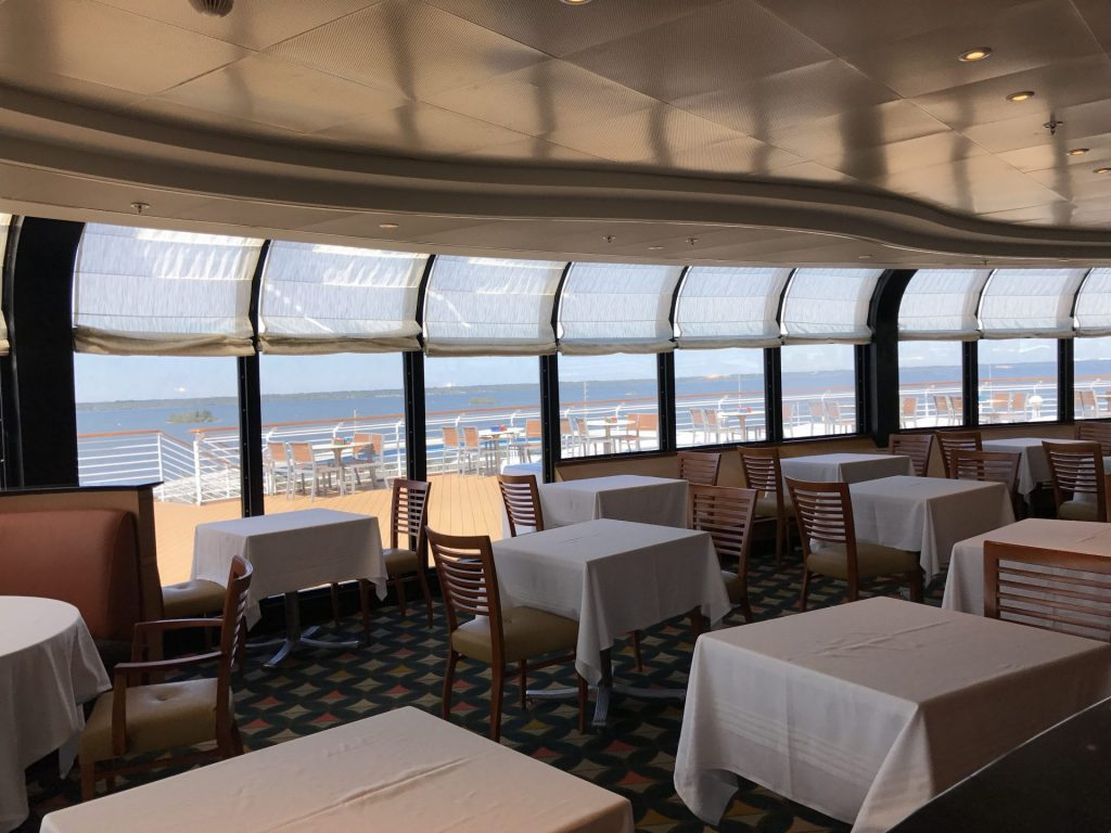 seating at Palo on Disney Cruise Line
