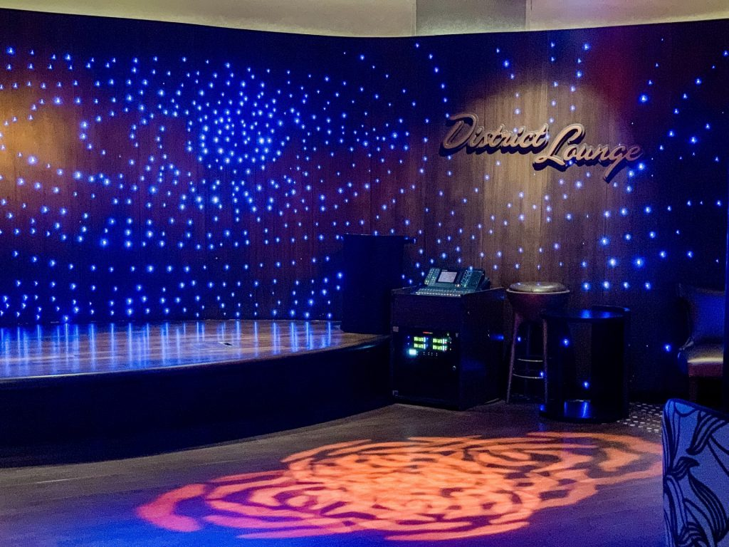 The District dance floor area on Disney Cruise Line