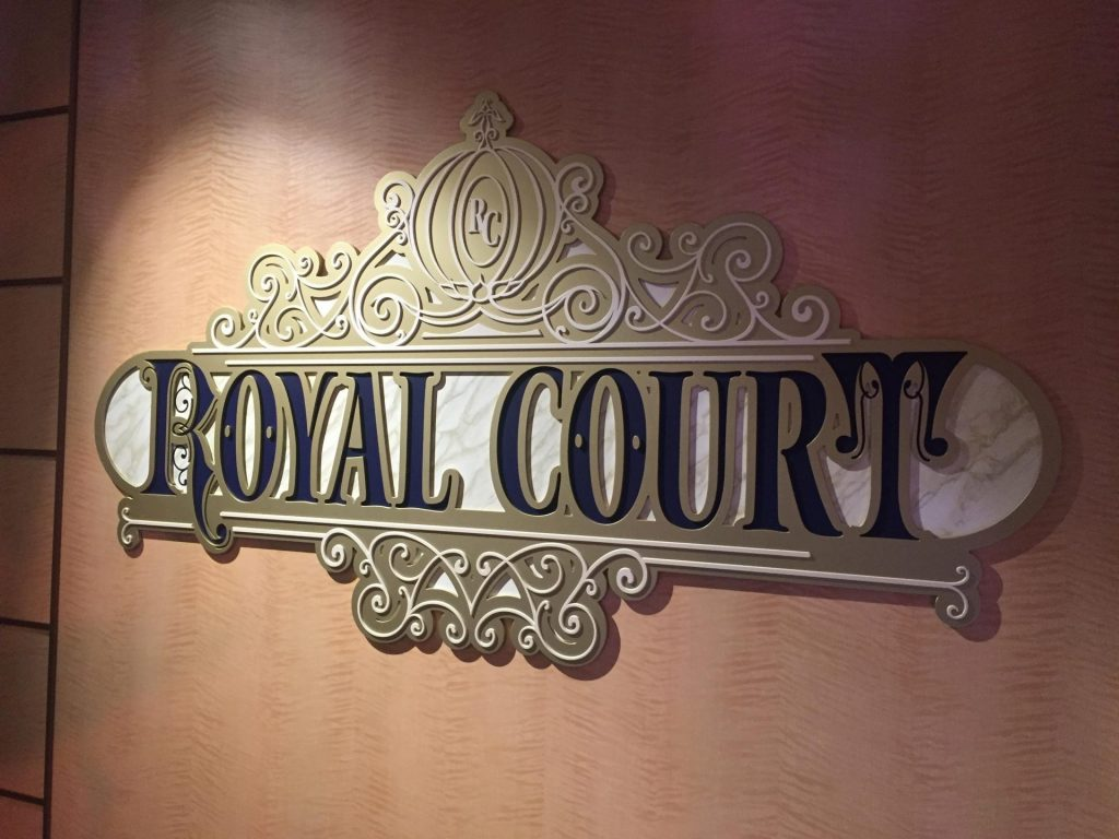 the Royal Court on Disney Cruise Line